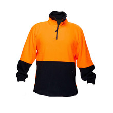 autumn men hi -vis <strong>orange</strong> and navy 2 tone hoodie
