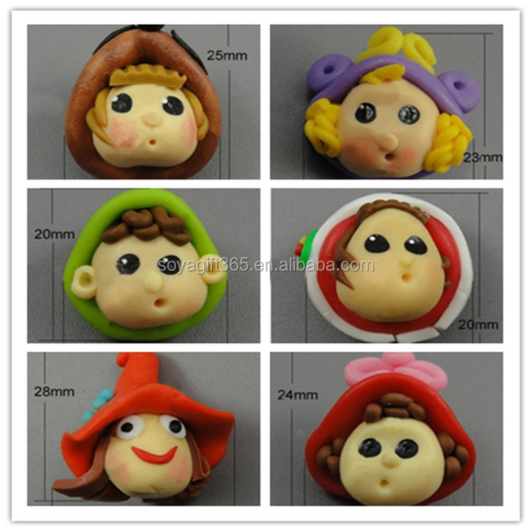 Polymer Clay Various Cartoon Hand Made Clay Cabochon for Pendant