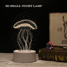 2017 High quality colorful 3D Vision Micro USB Connect LED Table Lamp 3D illusion Decoration Night Light Lamp