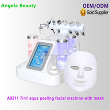 A0211 Hottest 7 in 1 super crystal skin care spray vacuum machine with LED mask
