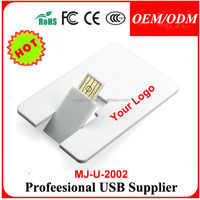 Custom plastic A grade Credit Card USB Drive pendrive for gift in full capacity 2G,4G,8G