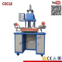 New design automatic long fabric strips hot foil stamping machine