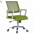 Foshan office furniture white color small cheap office desk chairs with wheels