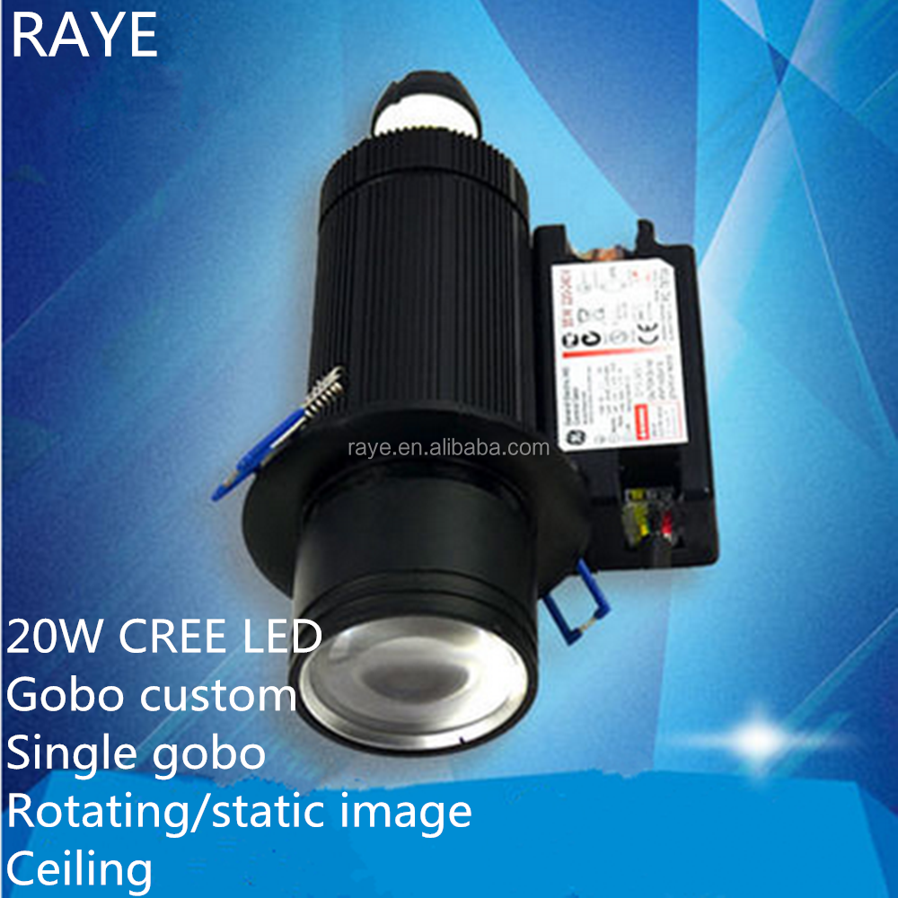 mini led gobo logo projector light for shop advertising