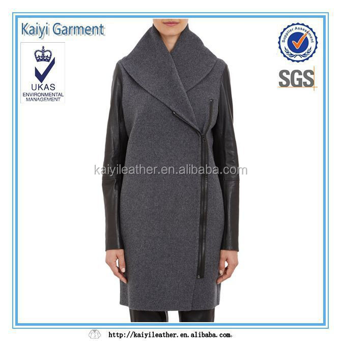 fashion woolen women's long coat in winter