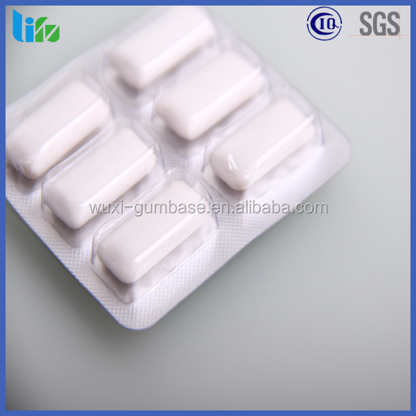6pcs blister xylitol strong mint anti cig chewing gum