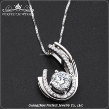 Hot Selling Fashion Luxurious Newly Design Micro Paved Zircon Silver Pendant Jewelry Women Accessories