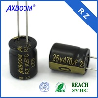 through hole package & general purpose aluminum capacitor has high ripple current