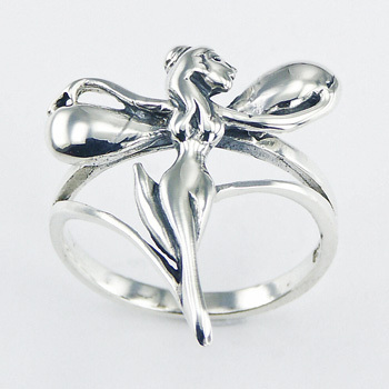 Plain Sterling Silver Fairy Ring Enchanting Jewelry Design