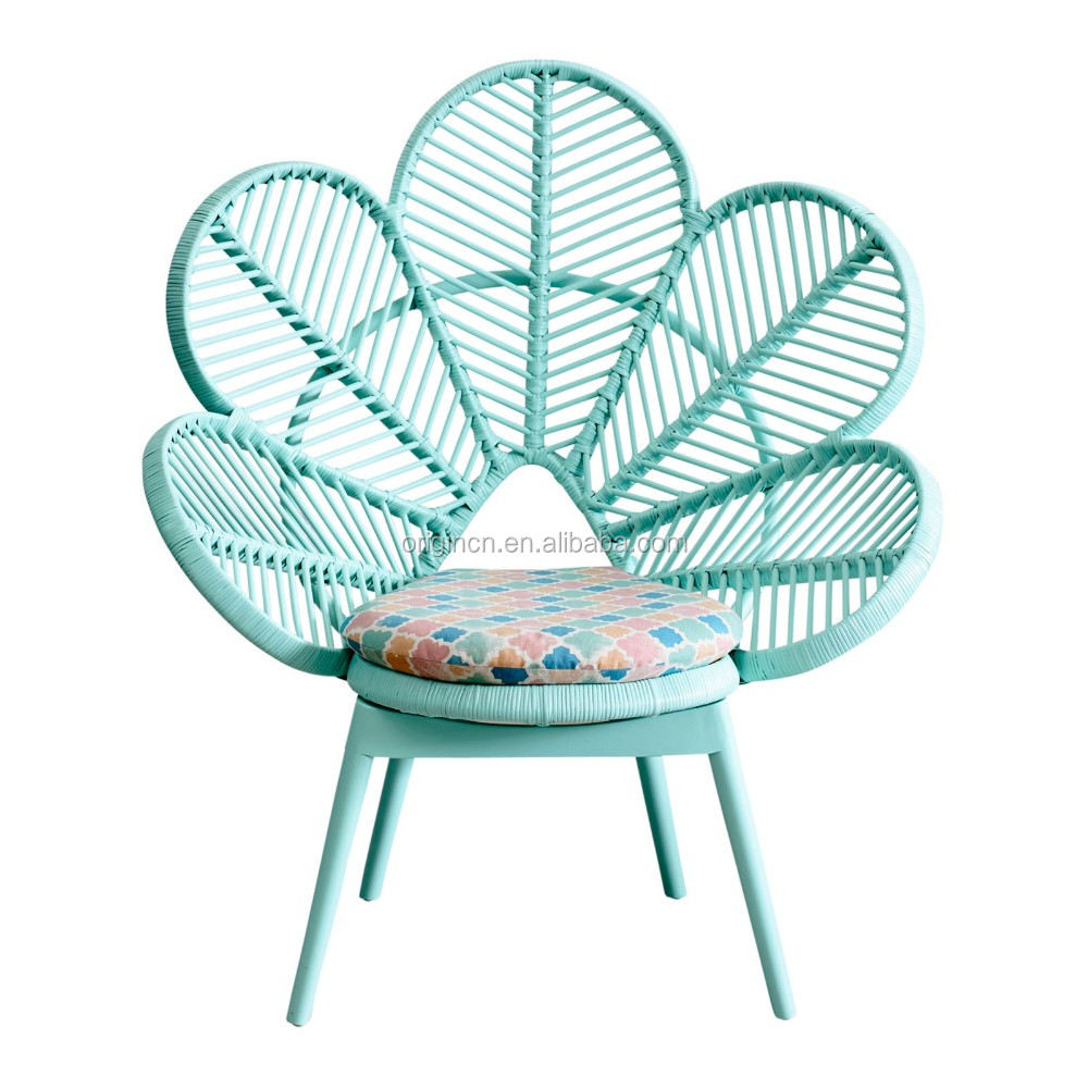 pink and green cute school furniture flower shaped pe