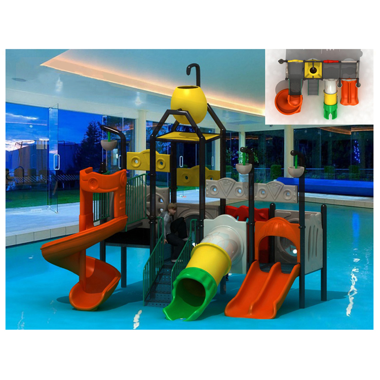 2018 Popular kids water slide plastic slide used swimming pool for children used HF-G2A