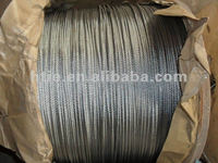 electro galvanized steel wire rope 8mm 6x19 6x37