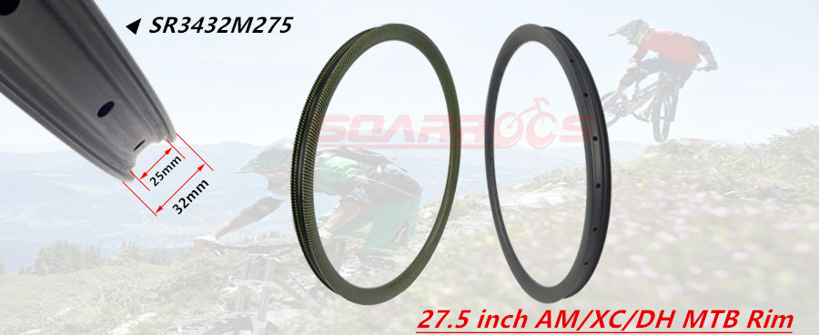 Made in China 27.5 inch (650B) full carbon mountain bike rim