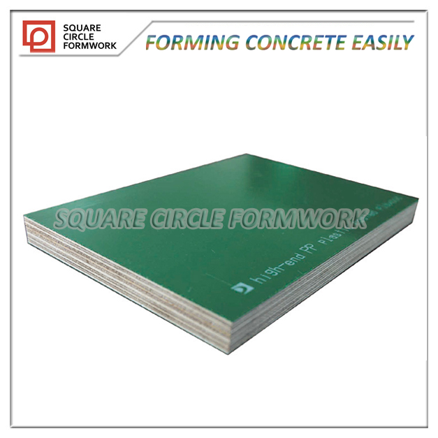 PP plastic laminated formwork plywood for construction as latest green technology