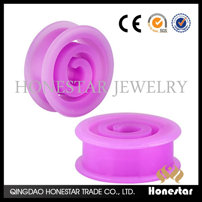2016 wholesale silicone ear expander charming ear stretcher piercing