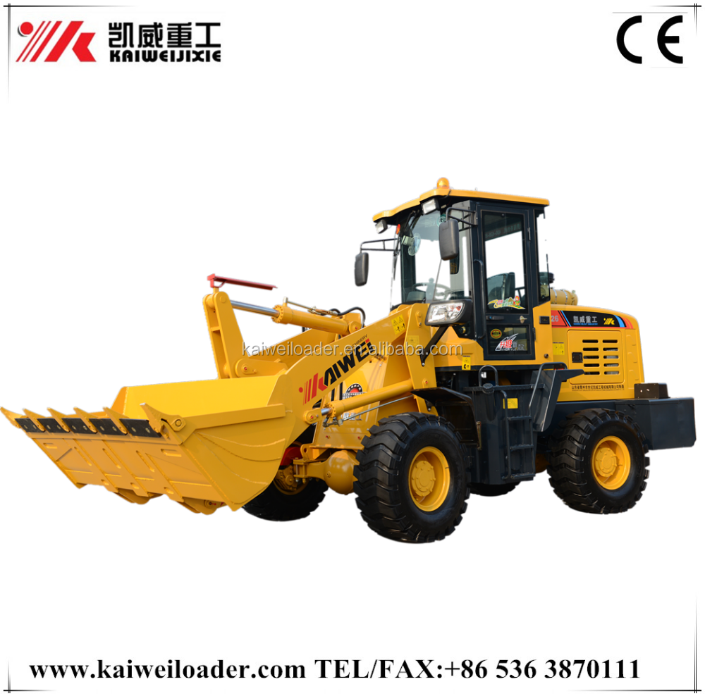 china forestry equipment ZL18 mini wheel loader with snow blower