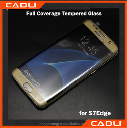 2016 new 3D 9H 0.2mm full screen cover for samsung galaxy S7 edge tempered glass screen protector