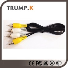 Hot selling 3 rca to 3 rca av rca cable for cctv