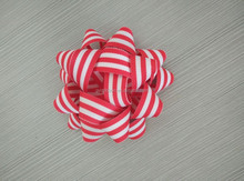 Star Ribbon Bow made by 100% Cotton Broadcloth for Gift Paper Bag/Christmas Tree Ornament