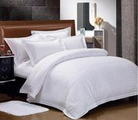 High quality 100% cotton satin fabric hotel used european style bedding set