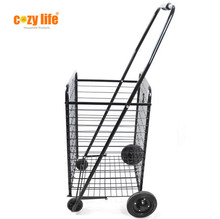 Household shopping trolley asy carrying iron handy folding shopping cart