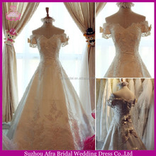 SW229 short sleeve lace long train cheap wedding dresses for big women