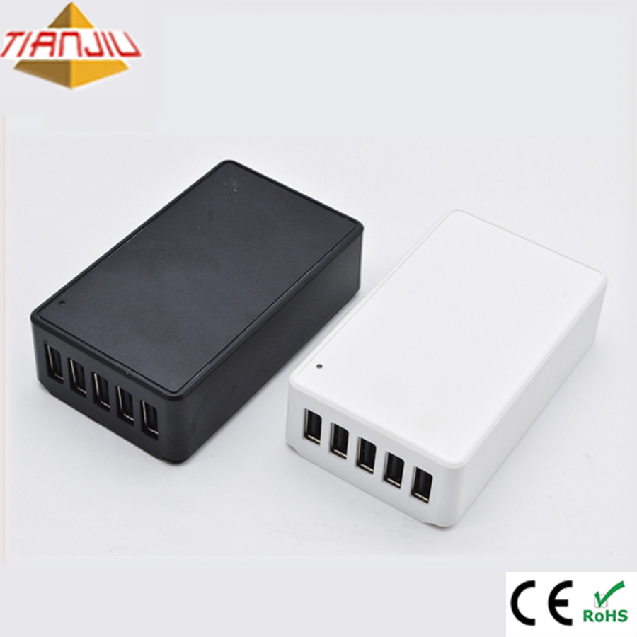5V 8A Multi 5 Ports Portable Power Travel USB Charger For iPhone Power bank Samsung