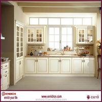 DIY fashion design PVC molding kitchen cabinet directed from China