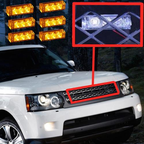 18 LED Emergency Vehicle Strobe Lights Car Flash Warning Lights for Front Grille/Deck