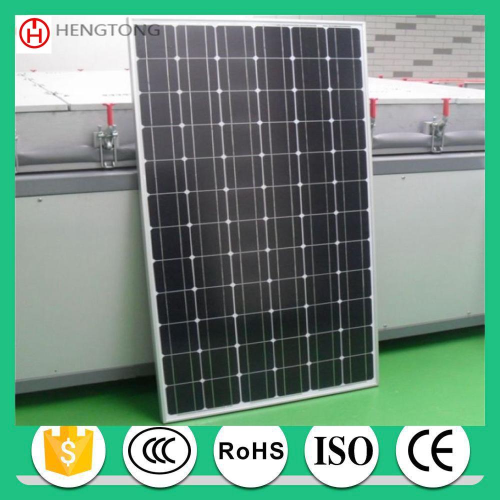 commercial 200w pv solar panel mono price list with CE ROHS