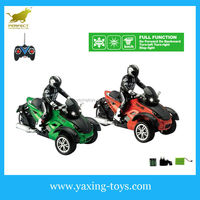 China 1:10 remote control motorcycle three wheels with driver YX000174