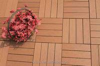 PVC interlocking floor tiles wood plastic composite outdoor timber tiles