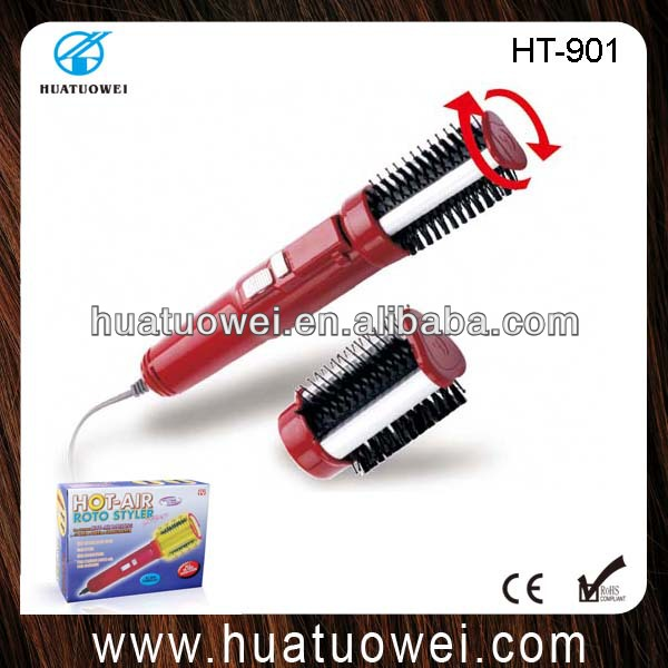Electric round hair brush with two detachable heads(HT-901)