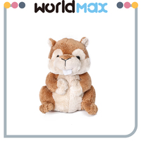 New Arrival Soft Cartoon Plush Toy Squirrel For Baby