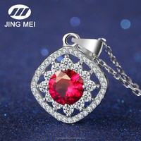 High quality jewelry wholesale fashionable ruby necklace pendant