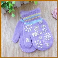 winter polar fleece black cotton fingerless gloves for women