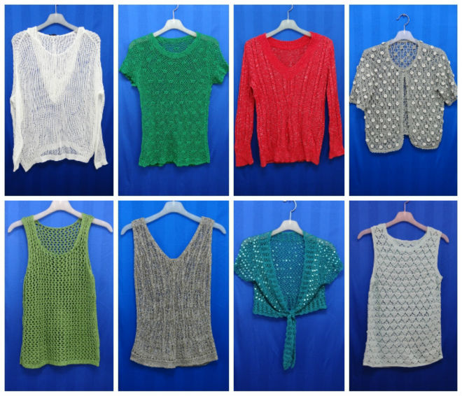 USED CLOTHES : LADIES SUMMER FASHION KNIT
