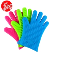 Multifunctional barbeque gloves, pretty rubber gloves, oven mittens