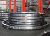 Steel forging mechanical bearing spacer ring with nitriding quenching carburizing