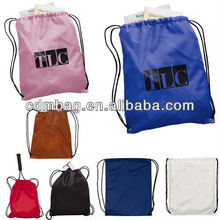 eco-friendly promotional drawstring polyester bag shopping bag