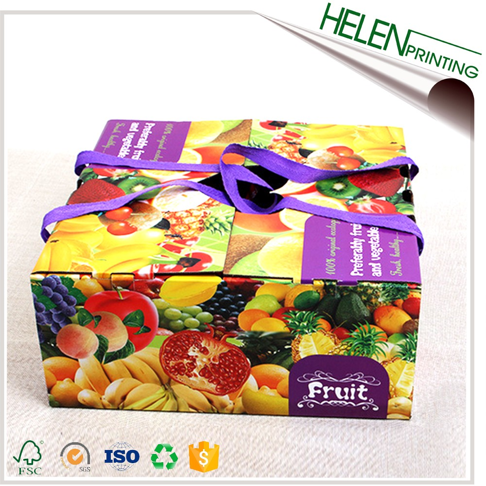 Full color gift boxes for apple/cherry/tomatoes/fruit/vegetable
