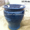 granite blue ceramic garden pots