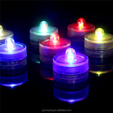 Led Submersible Lights Colorful Flame Waterproof Led Tea Light Candle Wedding Decoration