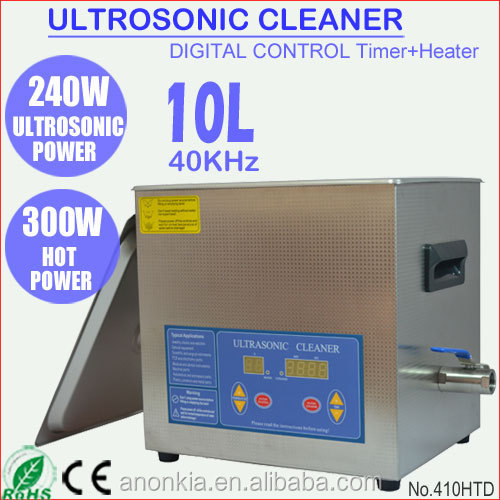 Digital Sonic Cleaner 10L Ultrasound Cleaning Tank Washer for Lab Instrument 410HTD