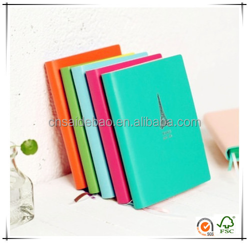 Most Popular Diaries Leather Pu A5 Notebook, Colorful Notebook With Soft Cover