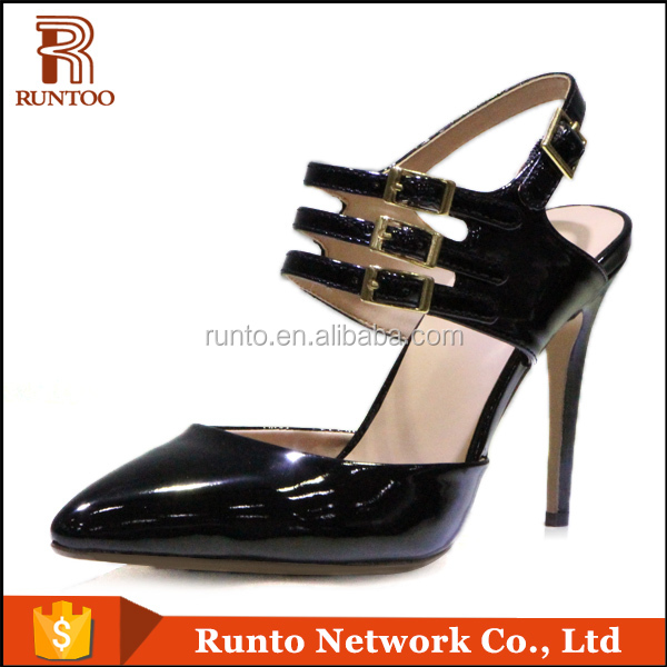 PU Lining Material and Rubber Outsole Material ladies high heel shoes Runto china pumps shoe factory fashion dress women shoes
