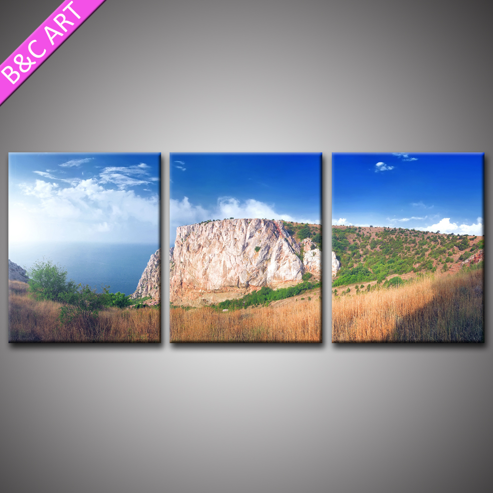 New Natural Landscape Wall Art Seascape Mountain Scenery Picture Printed Artwork For Hotel Office Home