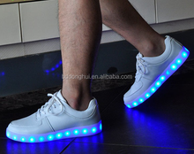 2016 New men's fashion sneakers black running shoes male lighted casual shoes LED glow shoes International brand