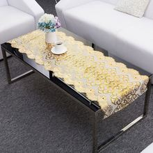 Most popular royal style attractive household pvc coffee houseware pvc lace tablecloth
