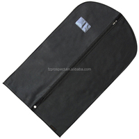 Customized reusable collapsible dustproof non woven suit cover bag